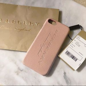 Auth Burberry Nude Rose Leather Fitted IPhone Case
